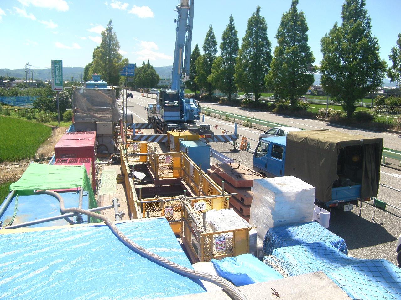県水送水管耐震化事業 送水管埋設工事(加賀1-4-44) (全景)
