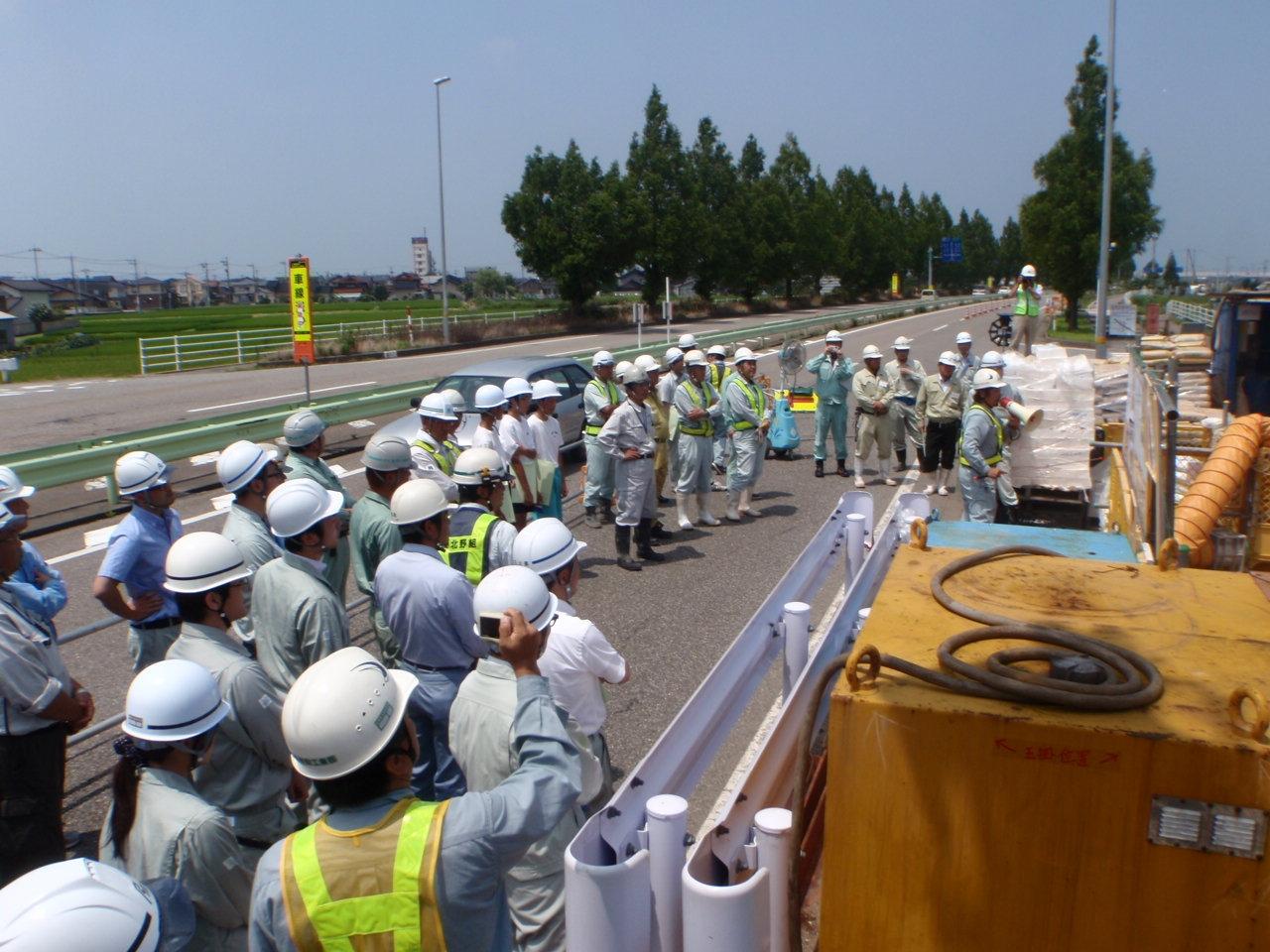 県水送水管耐震化事業 送水管埋設工事(加賀1-4-44) (見学会)
