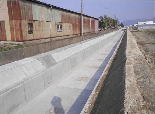平成27年度 県営かんがい排水事業 中島用水地区 水路工事その3