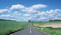道路と青空2