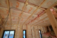 壁、天井断熱材施工