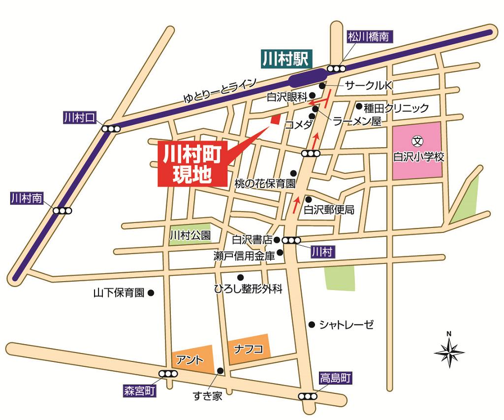 守山区川村町インフォメーションマップ