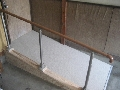 玄関 改修後 手摺とスロープを設置