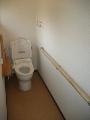 トイレ 改修後 和便→洋便へ 床材の変更