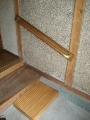 玄関 改修後 手摺の取付け 段差解消