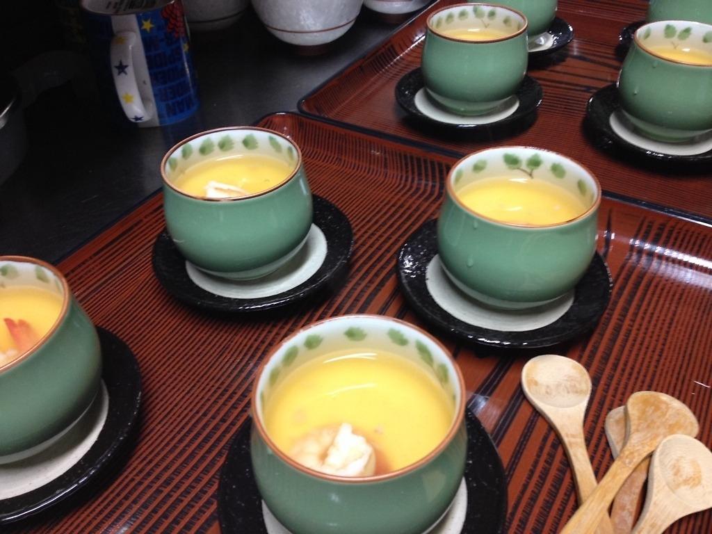 海老のあんかけ茶碗蒸し