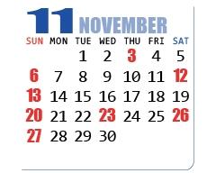 11月/NOVEMBER