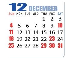 12月/DECEMBER