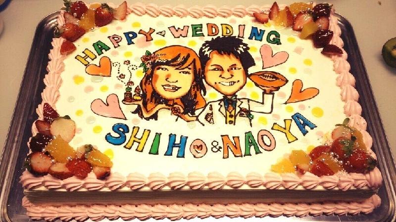似顔絵ケーキウェディングサイズ ¥20,000~