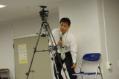 質問するカメラマン