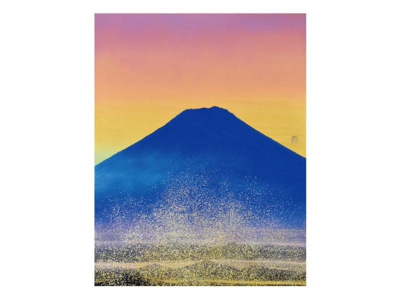 千住 博 「朝陽富士」©Hiroshi Senju