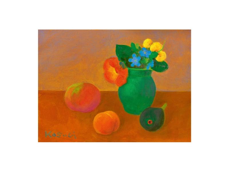 小杉 小二郎 「花と果物」©Kojiro Kosugi