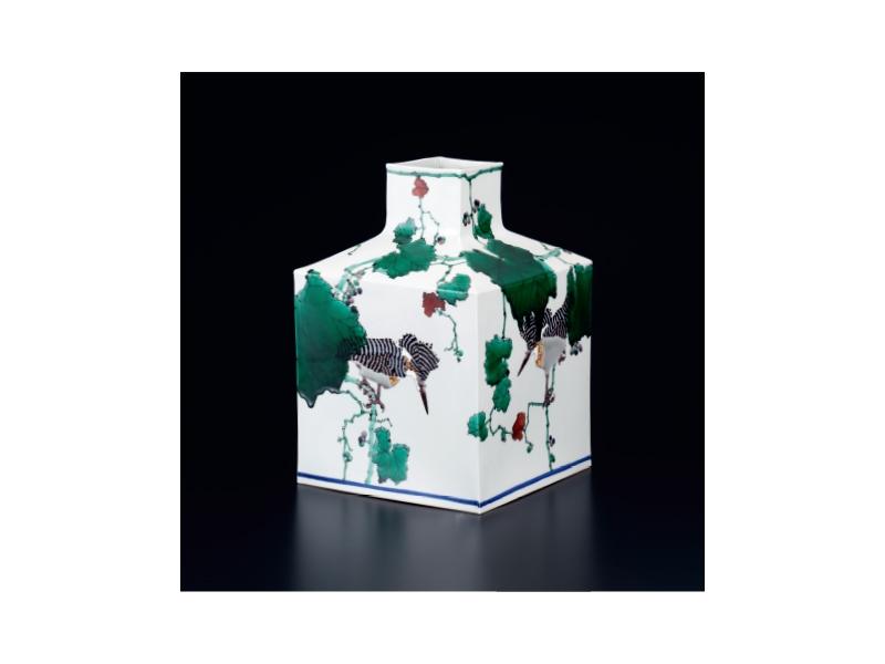 武腰 潤 「緑陰」山蝉の大角壷©Jyun Takekoshi