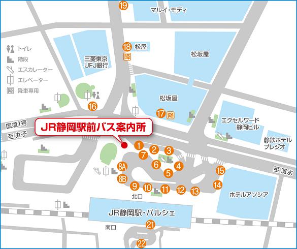駅バスターミナル地図