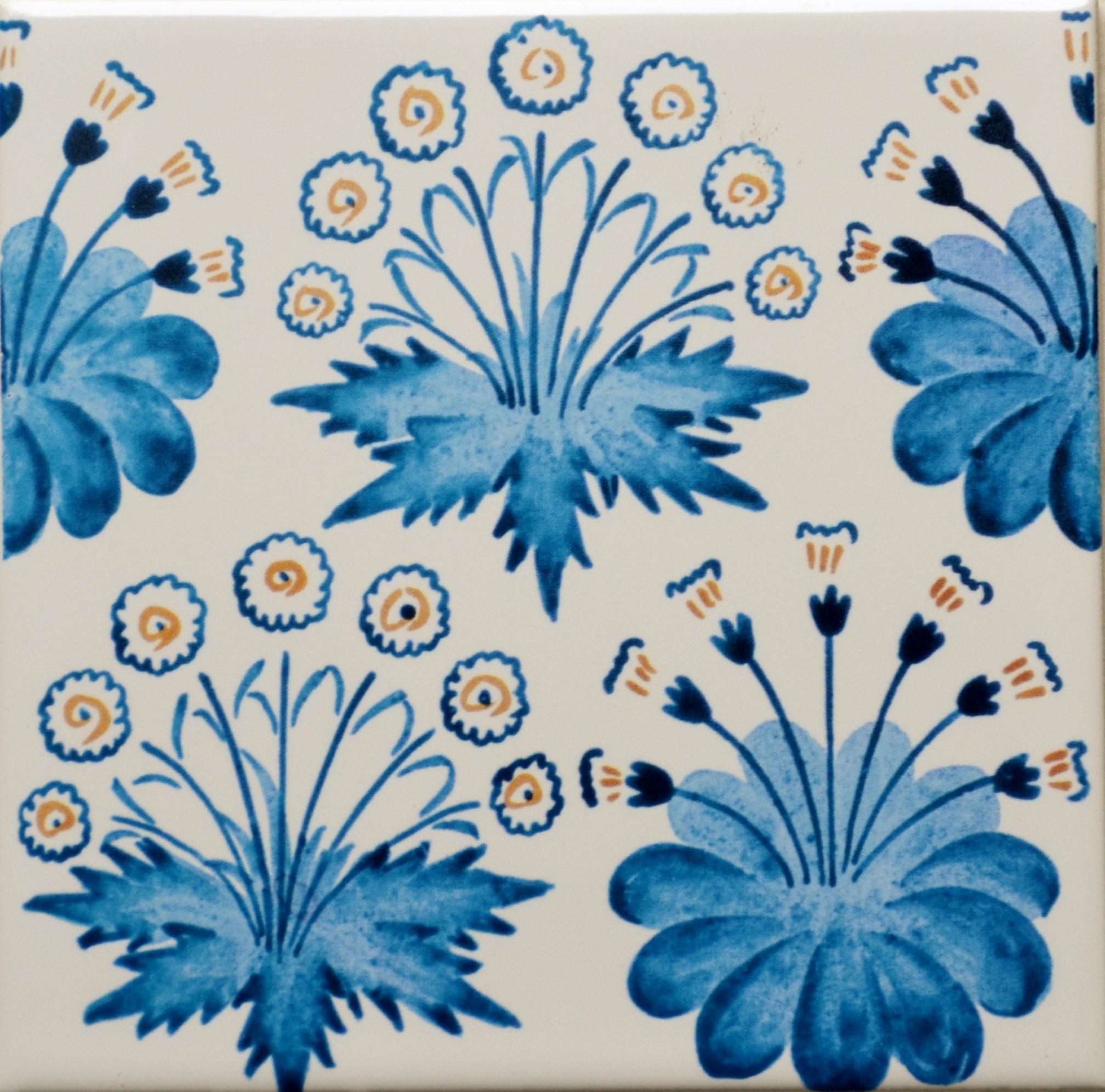 Daisy Blue Tile