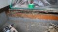 シロアリ被害にあった玄関上り框