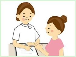 めがね先生の整骨院 施術の流れ 1.問診票に記入して頂きます