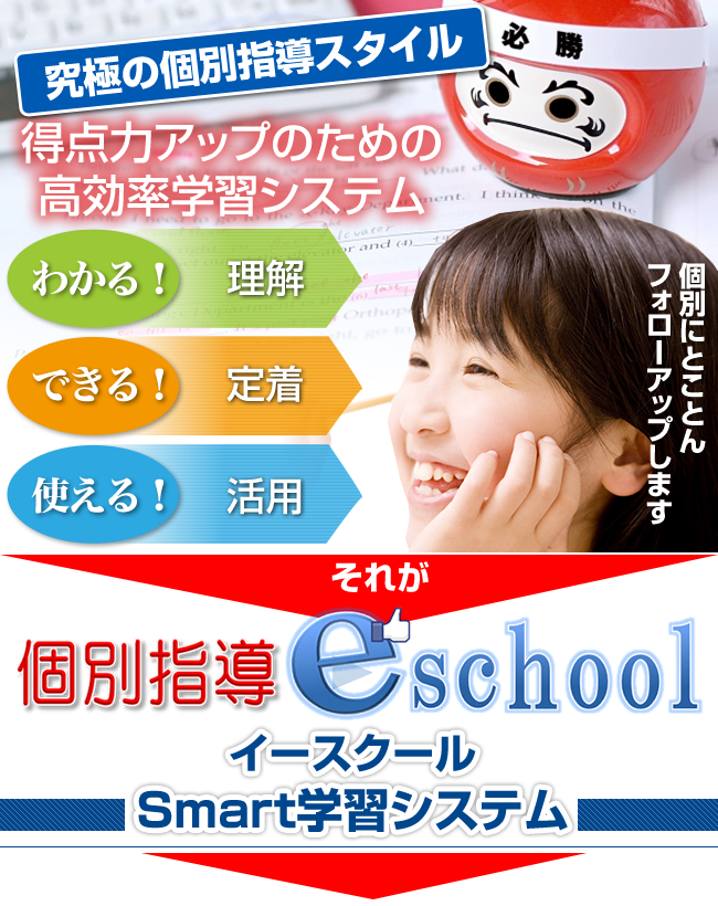 個別指導e schoolはスマート学習システムを採用しています