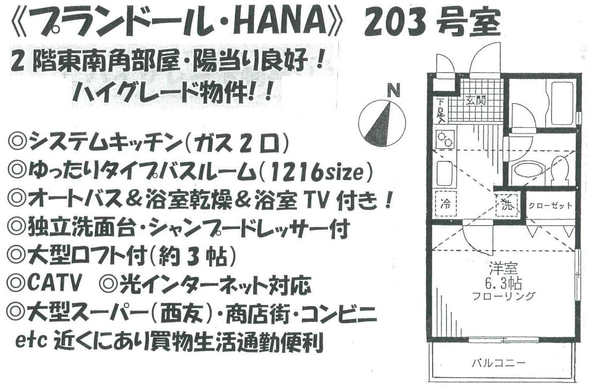 プランドールHANA203間取