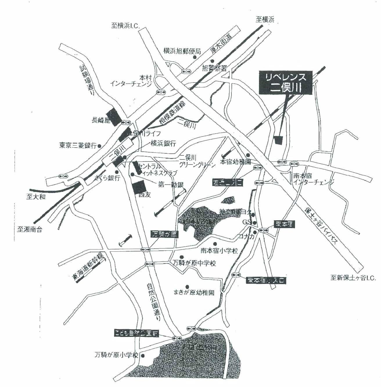 リベレンス二俣川105号室地図