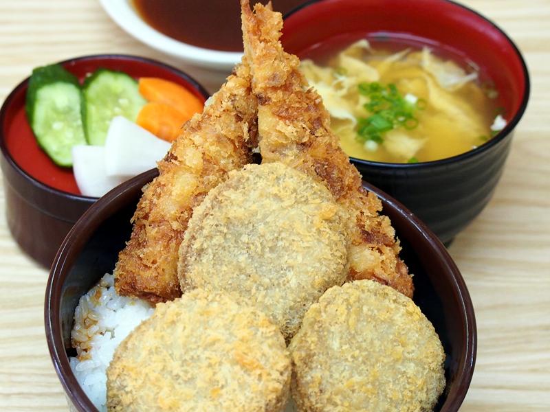 あじメンチ丼セット
