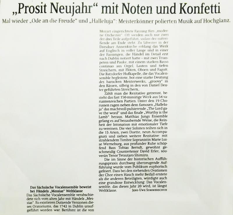 ドイツの現地紙に掲載されました
