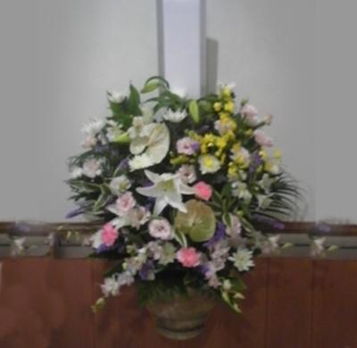 壁掛け生花1