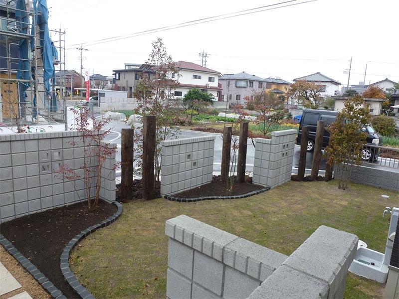 M市F邸 庭・外構・エクステリア工事 エクステリアなどお庭づくりなら漆原造園土木で 群馬県