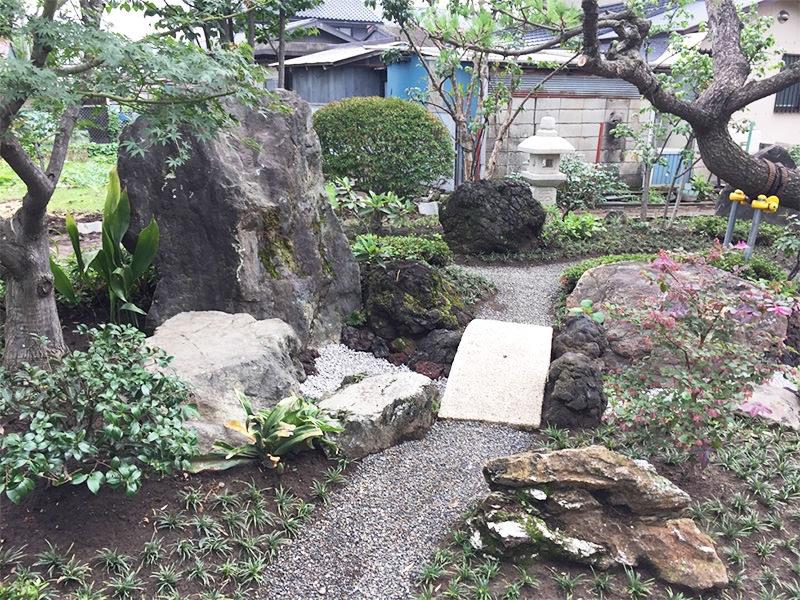 M市T邸 作庭 外構・エクステリア工事 エクステリアなどお庭づくりなら漆原造園土木で 群馬県