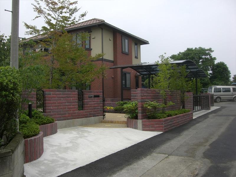 Y町M邸 庭・外構・エクステリア工事 エクステリアなどお庭づくりなら漆原造園土木で 群馬県