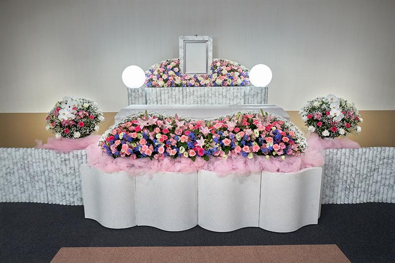 お花の家族葬施行例