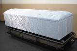 高級布張棺ブルー 小