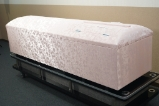 高級布張棺ピンク 小