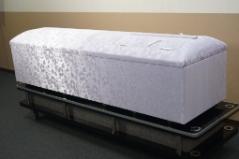 高級布張棺パープル