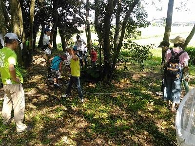 森の野遊び体験