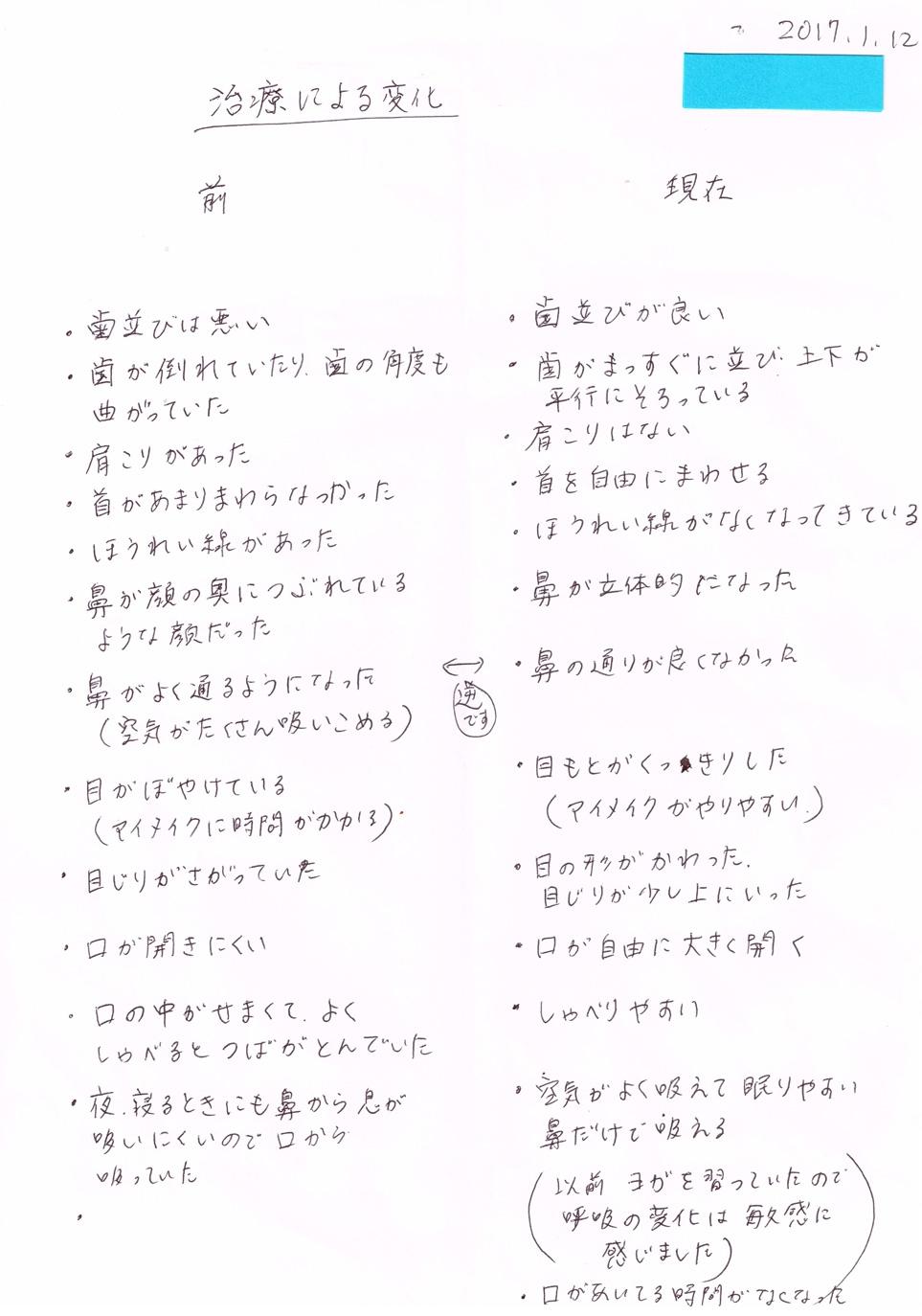 患者様の声(6)