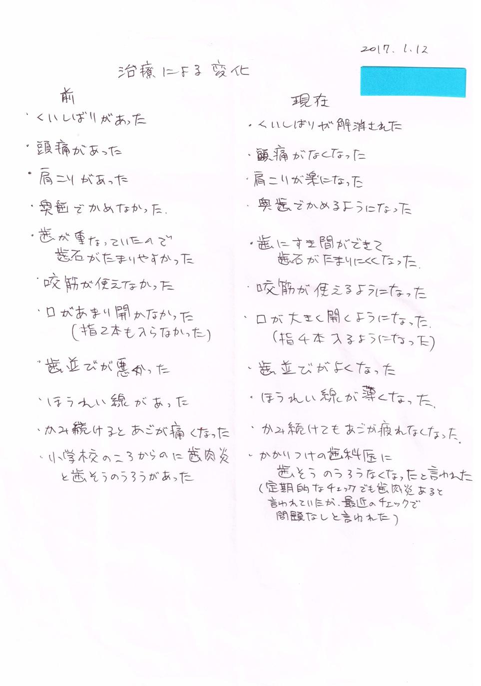 患者様の声(8)