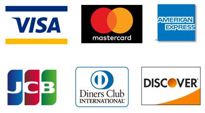 クレジットカードもご利用できます