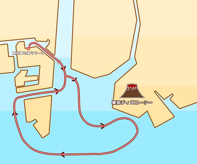地図:ディズニー花火