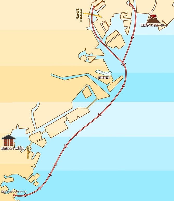 地図:ベイサイドマリーナ
