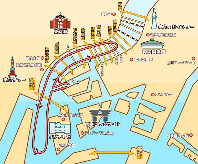 地図:隅田川東京湾