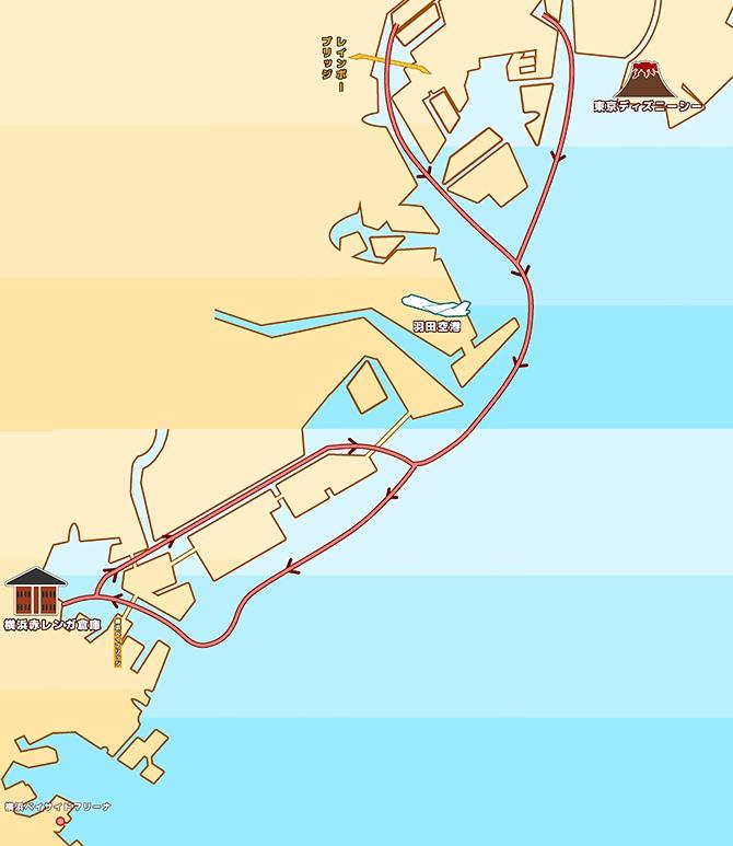 地図:山下公園中華街