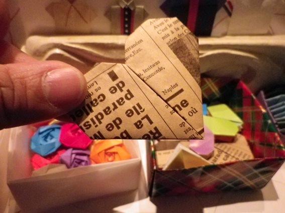 すべての折り紙 折り紙 バラ 立体 : 折り紙「ハート」