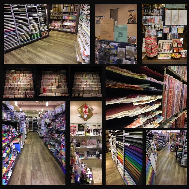 店内には、様々な紙や文房具がたくさん!