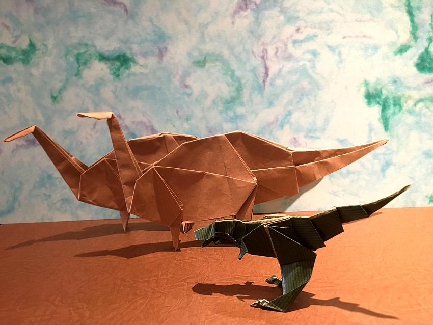 紙モノ体験のお知らせです(^^) 折り紙 『恐竜を折ろう!』