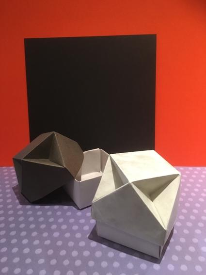 紙モノ体験のお知らせです(^^) 折り紙 「おうちボックス」を折ろう!