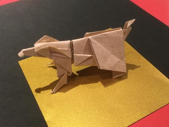 紙モノ体験のお知らせです♪ 折り紙『来年の干支-戌-』を折ろう!
