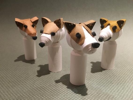 紙モノ体験のお知らせです♪ ペーパークイリング「こけし犬」を作ろう!
