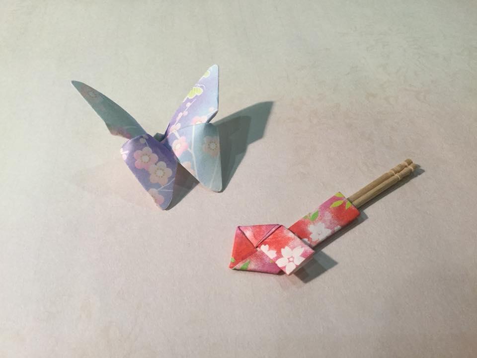 紙モノ体験のお知らせです♪ 折り紙 『蝶の箸置きと楊枝入れ』を折ろう!