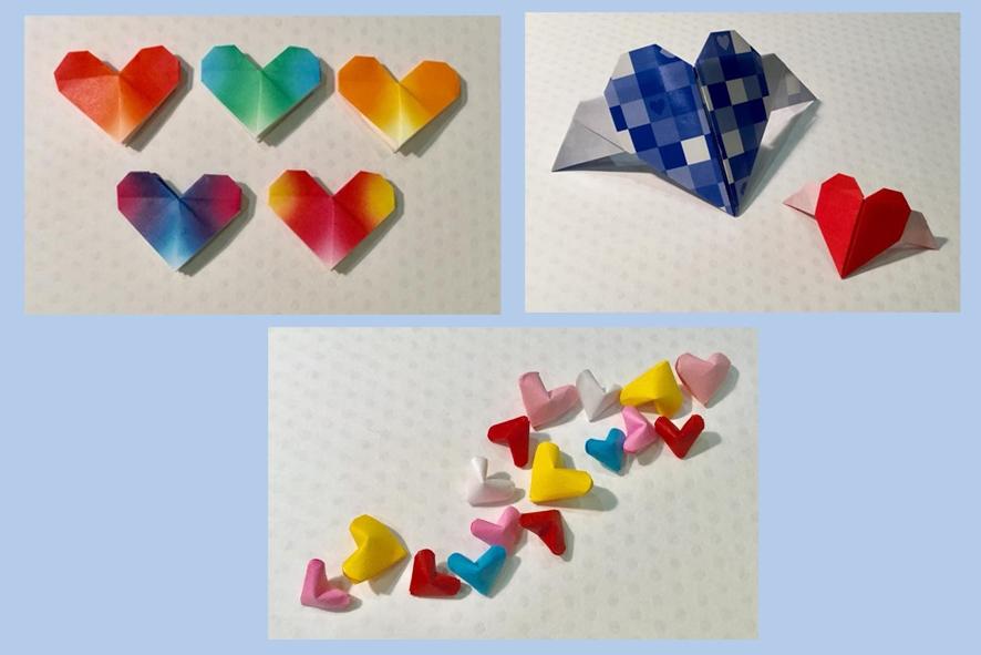 ワークショップのお知らせです♪ 折り紙「ハート(3種)」を折ろう!